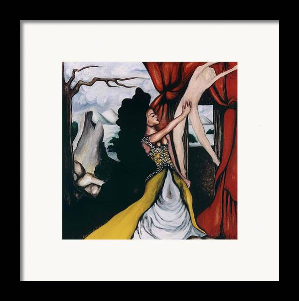 To Have And To Hold Framed Print featuring the painting To Have And To Hold  Mourning The Loss Of A Lover by Ayka Yasis