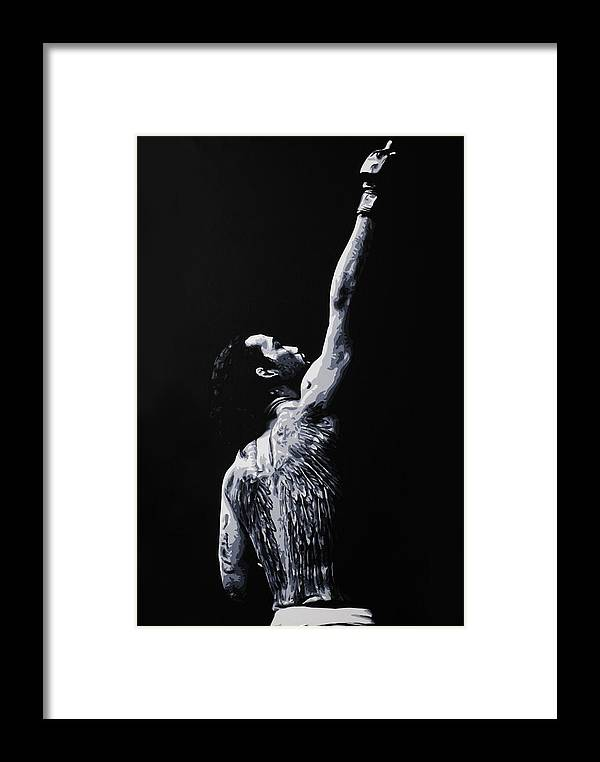 Mma Framed Print featuring the painting To Heaven by Geo Thomson