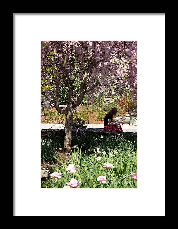 Study Framed Print featuring the photograph To Read by Sandra Clark