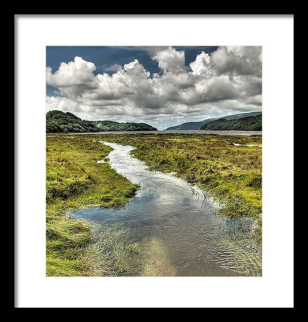 Wales Framed Print featuring the photograph To The Ocean by Colin Bruce