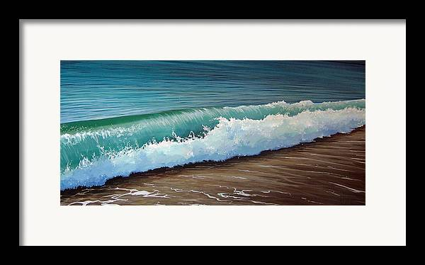 Wave On A Florida Beach Framed Print featuring the painting To The Shore by Hunter Jay