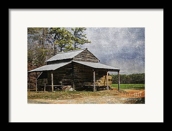 North Carolina Framed Print featuring the photograph Tobacco Barn In North Carolina by Benanne Stiens