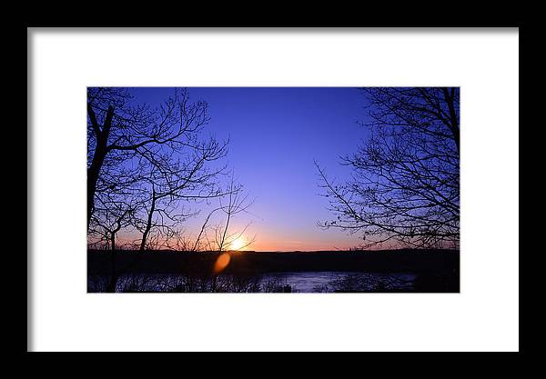 Remember Everyday's Sunset Framed Print featuring the photograph Today's Sunset 03242014 by Yi X