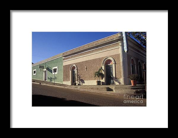 Mexico Framed Print featuring the photograph Todos Santos Buildings Mexico by John Mitchell