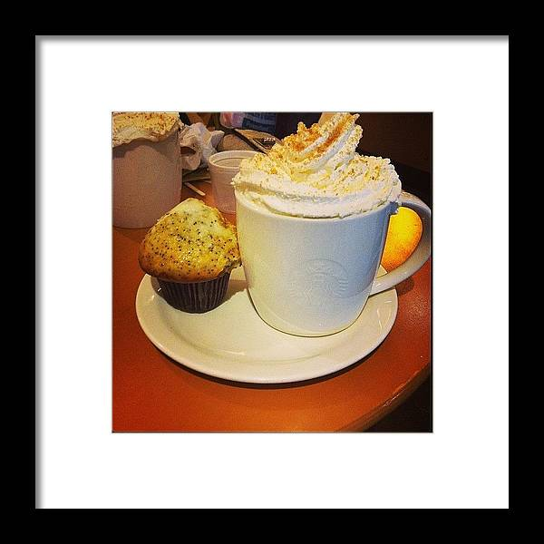 Poppyseed Framed Print featuring the photograph Toffe Nut Latte And Lemon & Poppy Seed by Lauren Simmons
