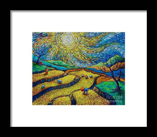 toil today dream tonight diptych painting number 1 after van gogh