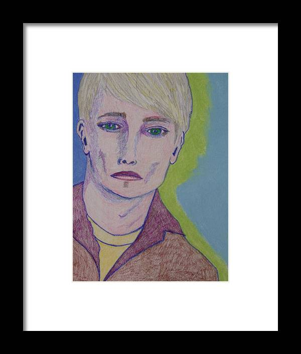 Portrait Framed Print featuring the drawing Tommy by Manuel Matas