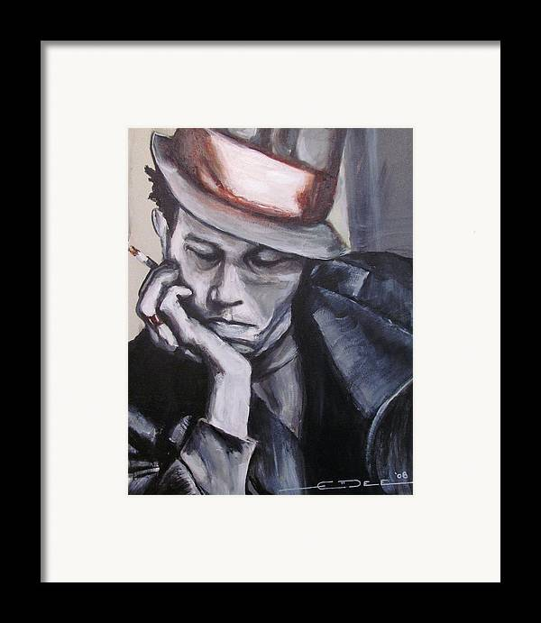 Celebrity Portraits Framed Print featuring the painting Tom Waits One by Eric Dee