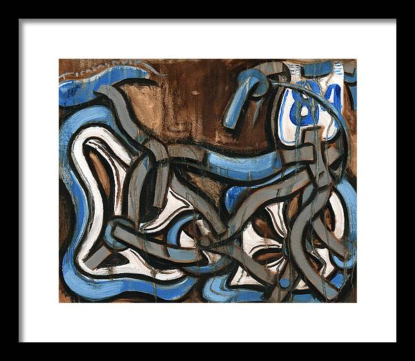 Bmx Framed Print featuring the painting Old school Bmx Racing Bike Art Print by Tommervik