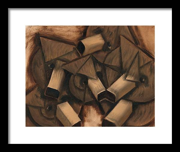 Grizzly Bears Framed Print featuring the painting Tommervik Cubsim Grizzly Bears Art print by Tommervik