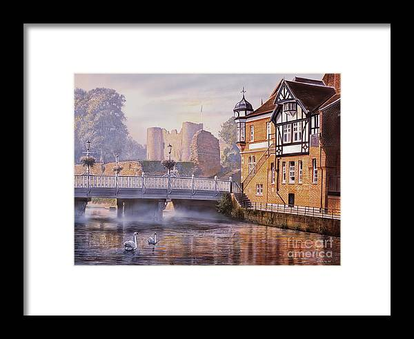 Steve Crisp Framed Print featuring the digital art Tonbridge Castle by Steve Crisp