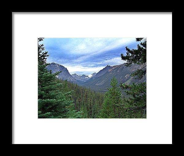 Janet Ashworth Framed Print featuring the mixed media Tonquin Valley by Janet Ashworth