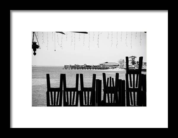 Jezcself Framed Print featuring the photograph Tony's Cafe by Jez C Self