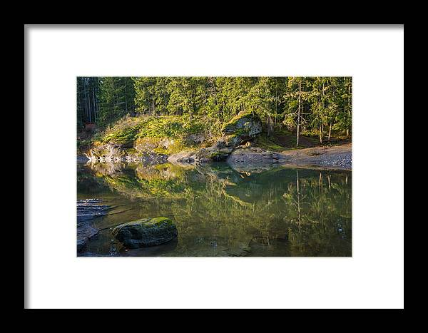 British Columbia Framed Print featuring the photograph Top Bridge by Carrie Cole