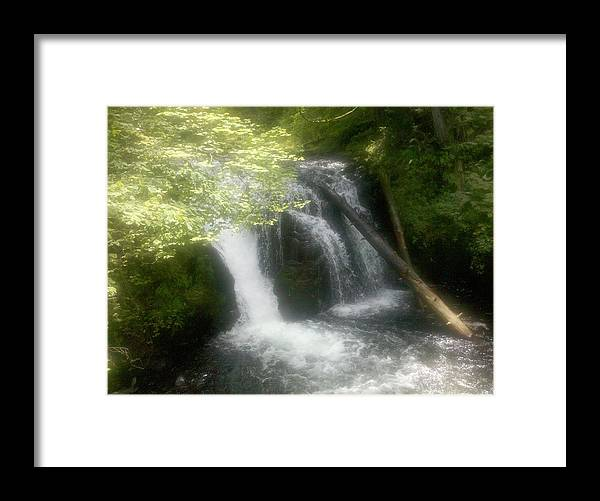 Multnomah Falls Framed Print featuring the photograph Top Of The Falls by Heather L Wright