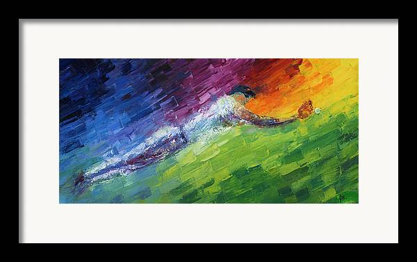 Oil Framed Print featuring the painting Top Ten Play Of The Day by Ash Hussein