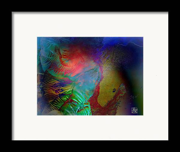 Surrealism Framed Print featuring the digital art Topology Of Decalcomania by Otto Rapp
