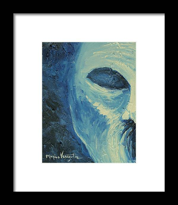 Painting Framed Print featuring the painting Torment by Monica Veraguth