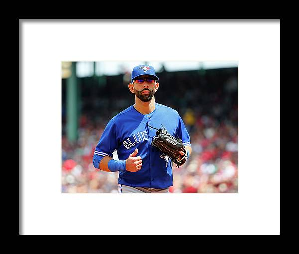 Second Inning Framed Print featuring the photograph Toronto Blue Jays V Boston Red Sox by Winslow Townson
