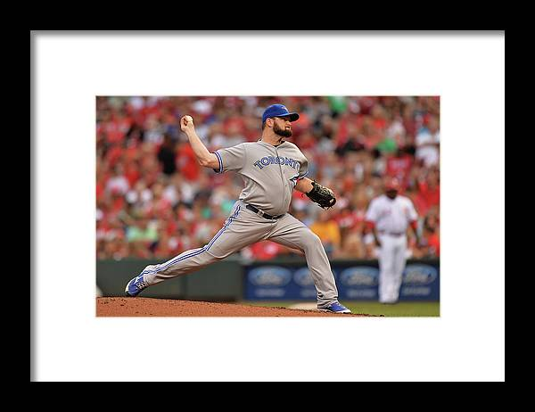 Great American Ball Park Framed Print featuring the photograph Toronto Blue Jays V Cincinnati Reds by Jamie Sabau
