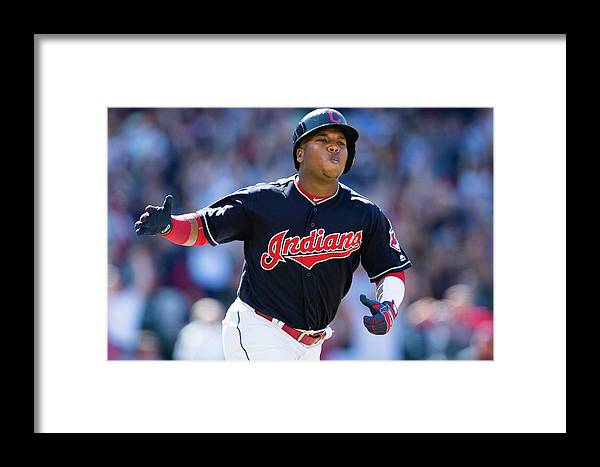 American League Baseball Framed Print featuring the photograph Toronto Blue Jays V Cleveland Indians by Jason Miller