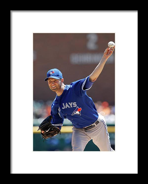 American League Baseball Framed Print featuring the photograph Toronto Blue Jays V Detroit Tigers by Duane Burleson