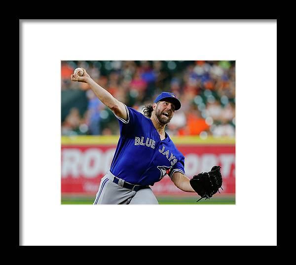 Three Quarter Length Framed Print featuring the photograph Toronto Blue Jays V Houston Astros by Bob Levey