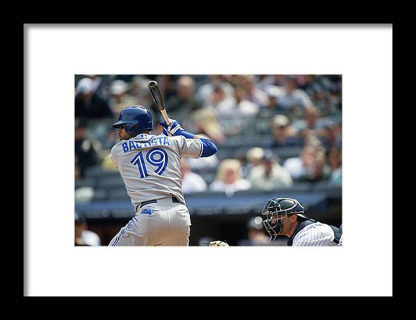 American League Baseball Framed Print featuring the photograph Toronto Blue Jays V New York Yankees by Rob Tringali