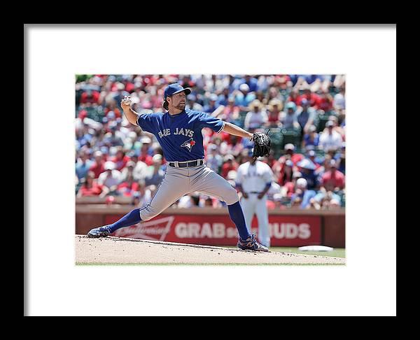 American League Baseball Framed Print featuring the photograph Toronto Blue Jays V Texas Rangers by Brandon Wade