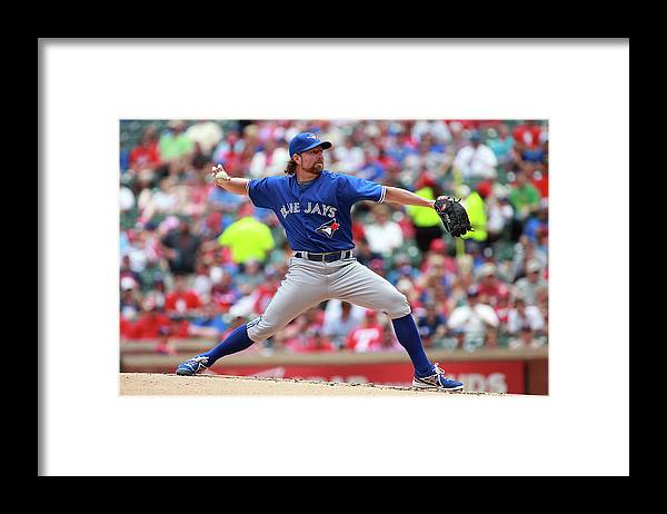 American League Baseball Framed Print featuring the photograph Toronto Blue Jays V Texas Rangers by Rick Yeatts