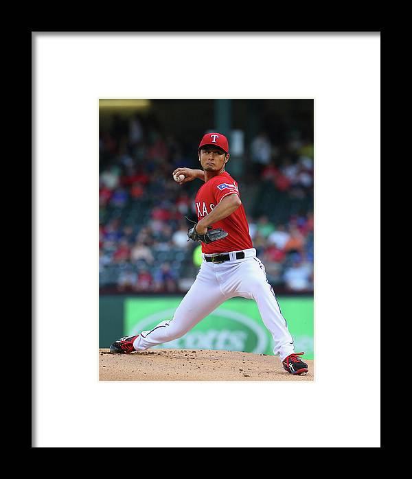 American League Baseball Framed Print featuring the photograph Toronto Blue Jays V Texas Rangers by Ronald Martinez