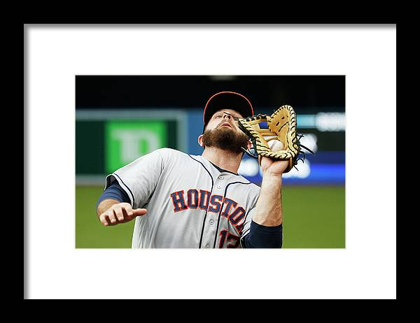 American League Baseball Framed Print featuring the photograph Toronto Blue Jays Vs Houston Astros by Carlos Osorio