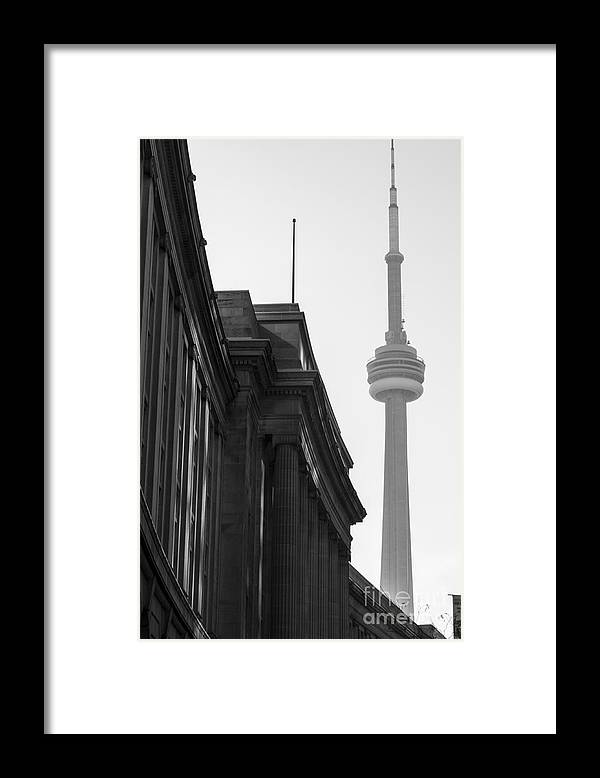 Toronto Framed Print featuring the photograph Toronto CN Tower by Matt Trimble