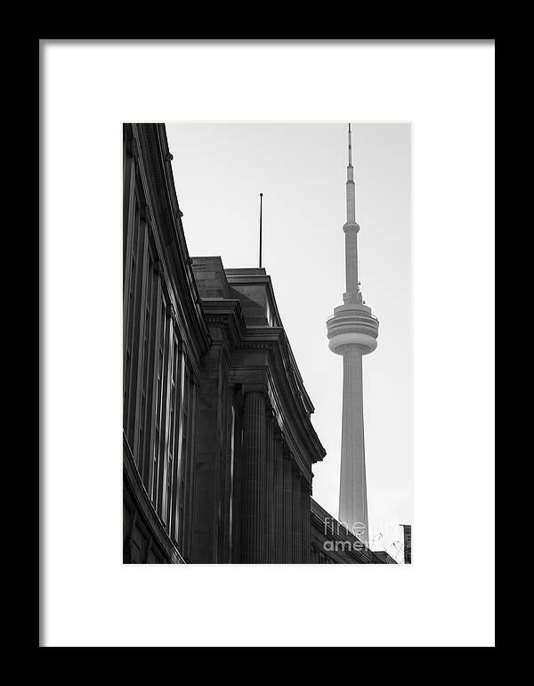Toronto Framed Print featuring the photograph Toronto Cn Tower by Matt Trimble