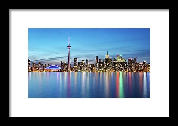 Tranquility Framed Print featuring the photograph Toronto Skyline by Thomas Kurmeier