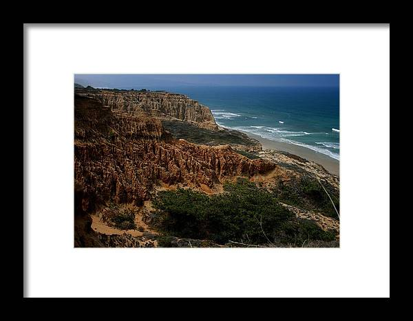 Landscape Framed Print featuring the photograph Torrey Pines Coastal View by Scott Cunningham