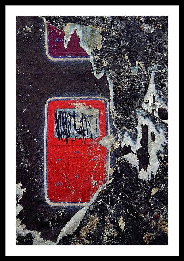 Natural Collage Kenneth Rst Vick Framed Print featuring the photograph Touch Screen/ Subtext 2007 by Kenneth rst Vick