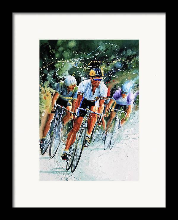 Tour De France Framed Print featuring the painting Tour De Force by Hanne Lore Koehler