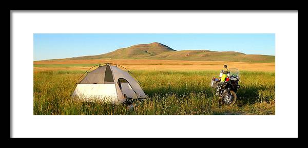 Framed Print featuring the photograph Touring Idaho On A Bmw Adventure by A Wanderers Photography