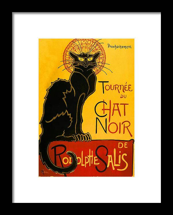 Art Nouveau Framed Print featuring the painting Tournee Du Chat Noir by Theophile Steinlen