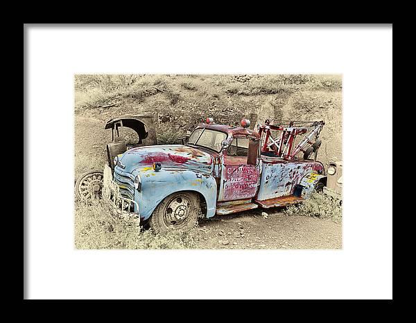 Truck Framed Print featuring the photograph Tow Truck by Robert Jensen