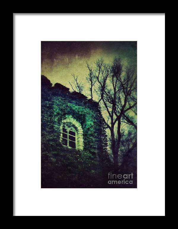 Gothic Framed Print featuring the photograph Tower And Trees by Jill Battaglia