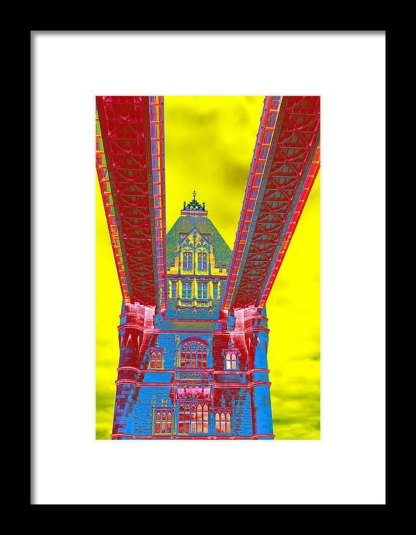 Tower Bridge Framed Print featuring the photograph Tower Bridge by Richard Henne