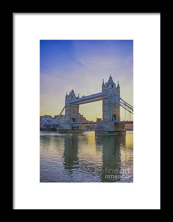 Tower Bridge London Framed Print featuring the photograph Tower Bridge Sunrise by Chris Thaxter