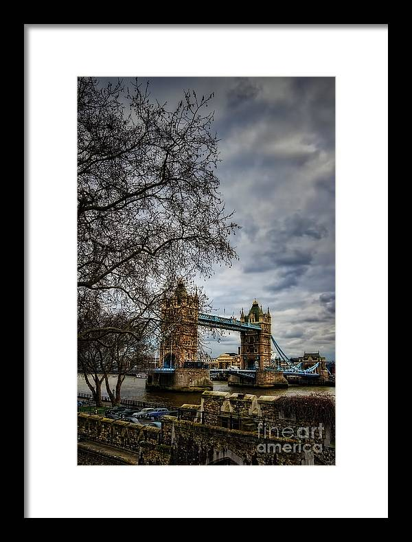 Architecture Framed Print featuring the photograph Tower Bridge by Tamson