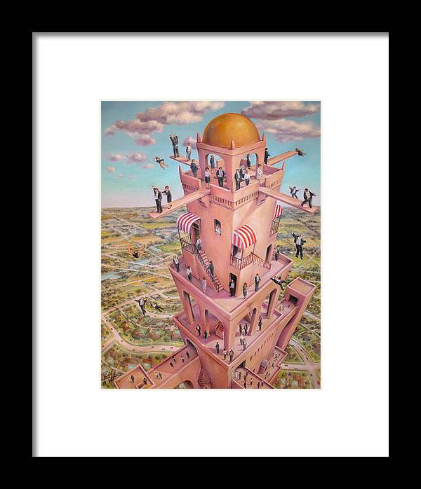 Tower Framed Print featuring the painting Tower Of Babbit by Henry Potwin