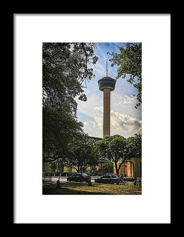 Alamo Framed Print featuring the photograph Tower Of The Americas by Ralph Brannan
