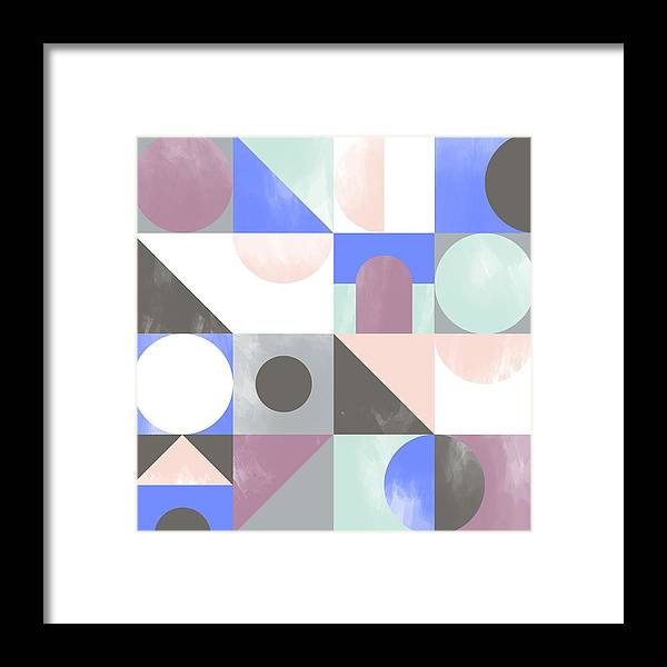 Pattern Framed Print featuring the painting Toy Blocks by Laurence Lavallee