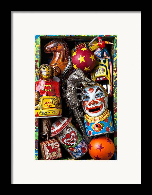 Clown Framed Print featuring the photograph Toy Box by Garry Gay