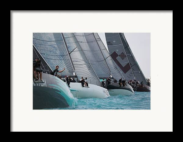 Race Framed Print featuring the photograph Tp52 Start by Steven Lapkin